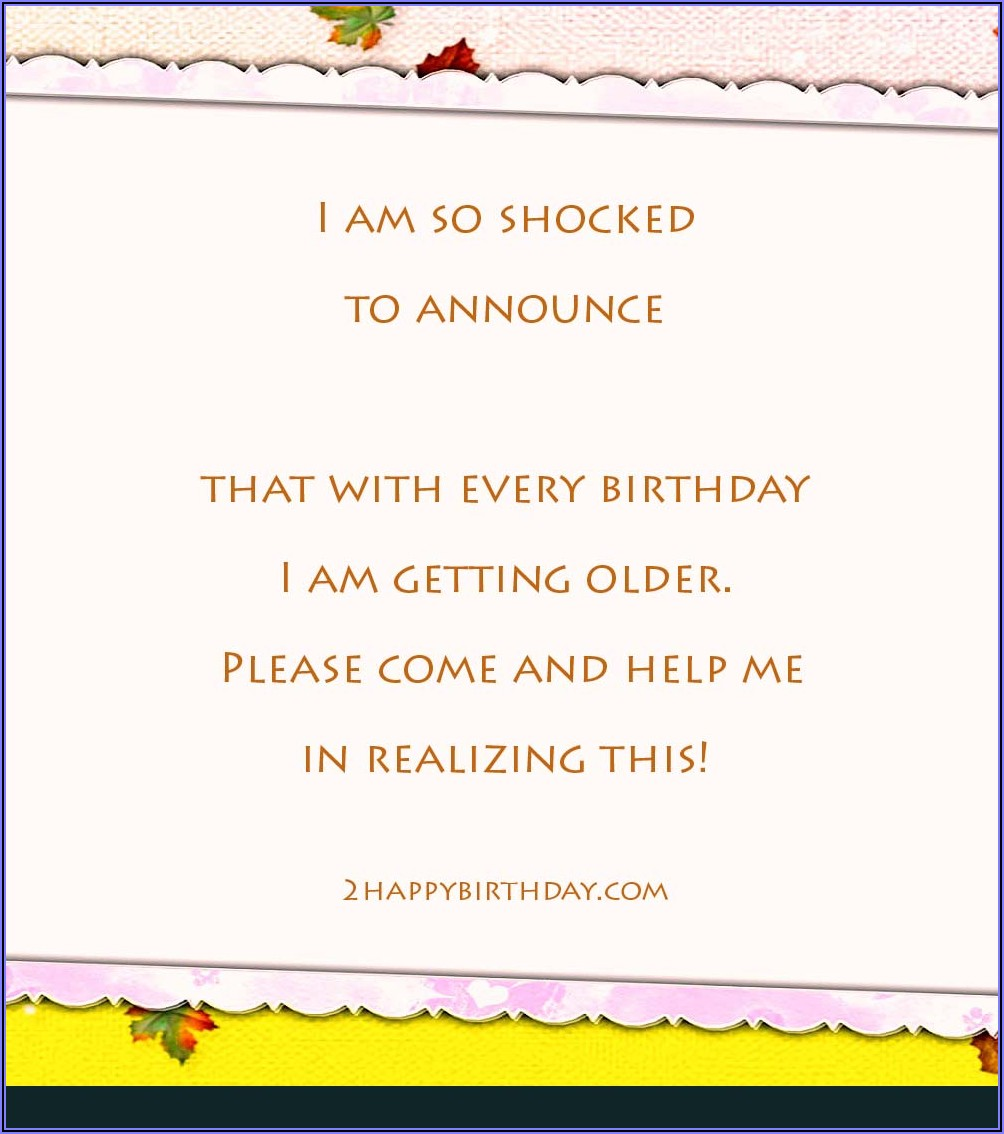 Birthday Invitation Text For Friends