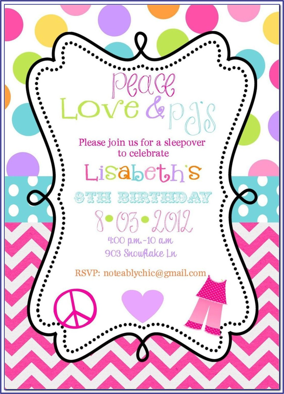 Birthday Invitation Text For Girl