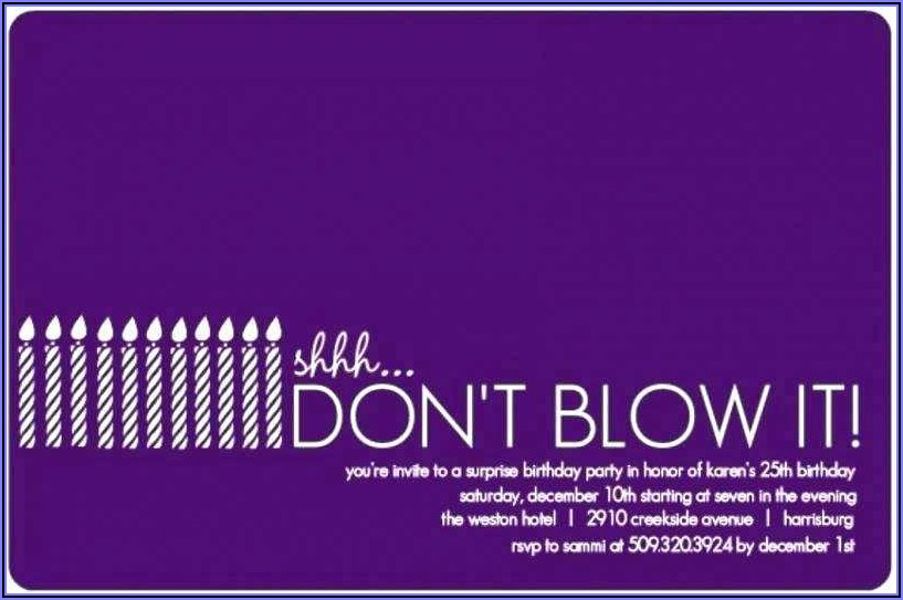 Birthday Invitation Text Message Templates