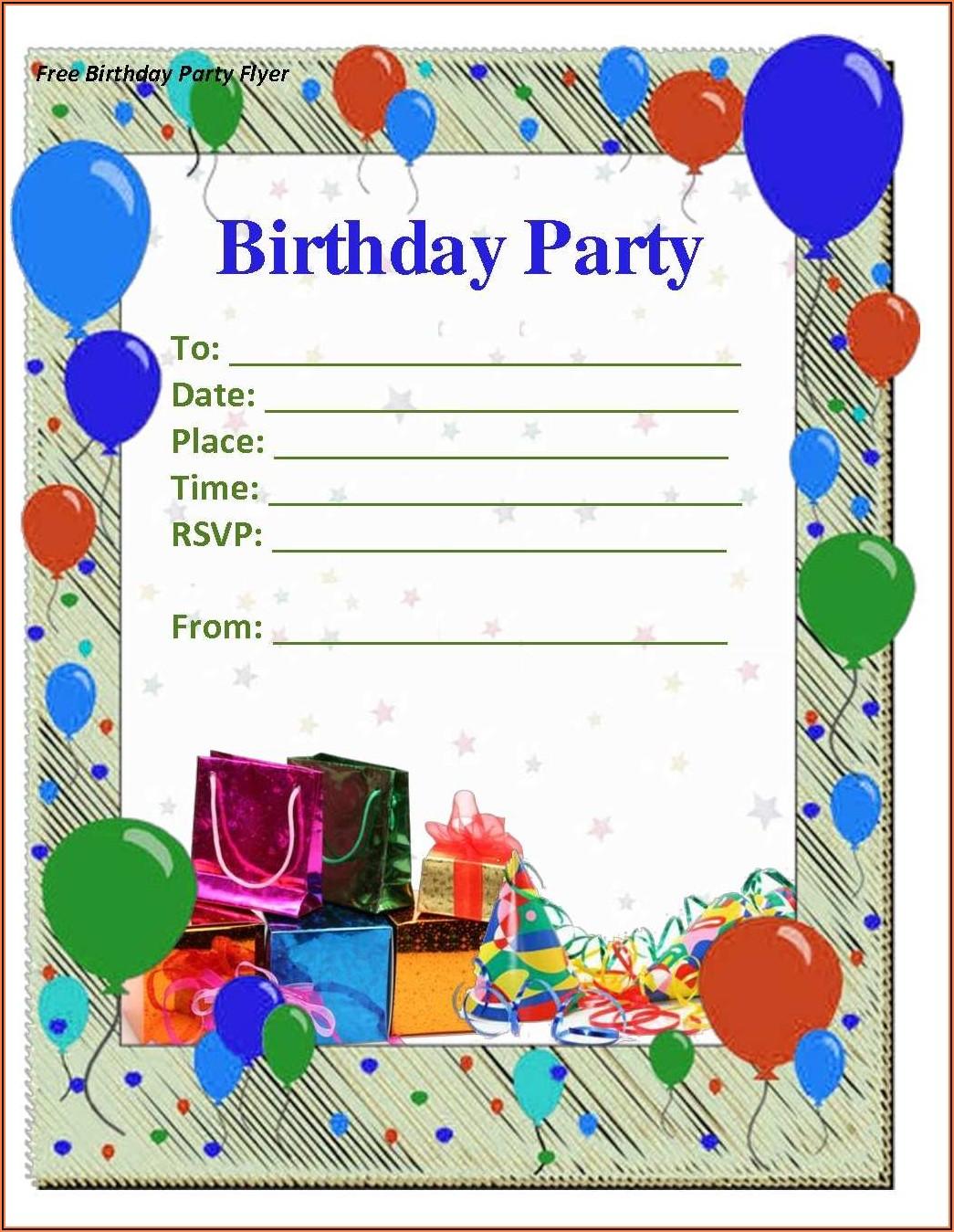 Birthday Invitation Word Template Download