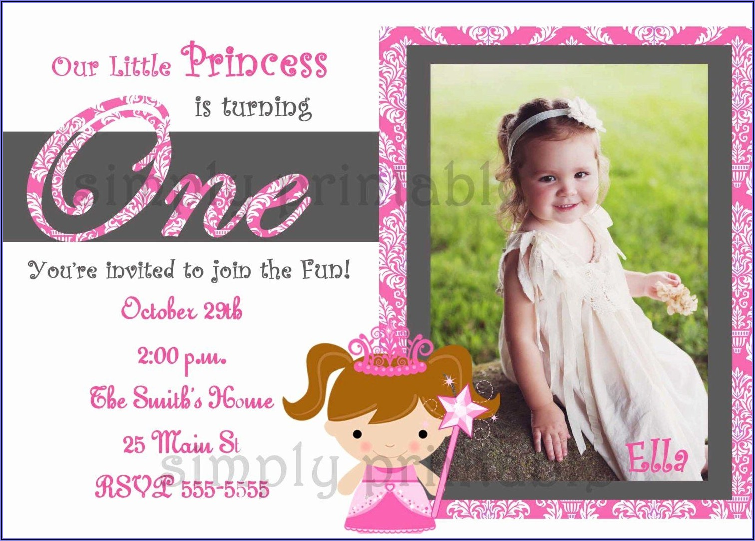 Birthday Invitation Wording For Girl