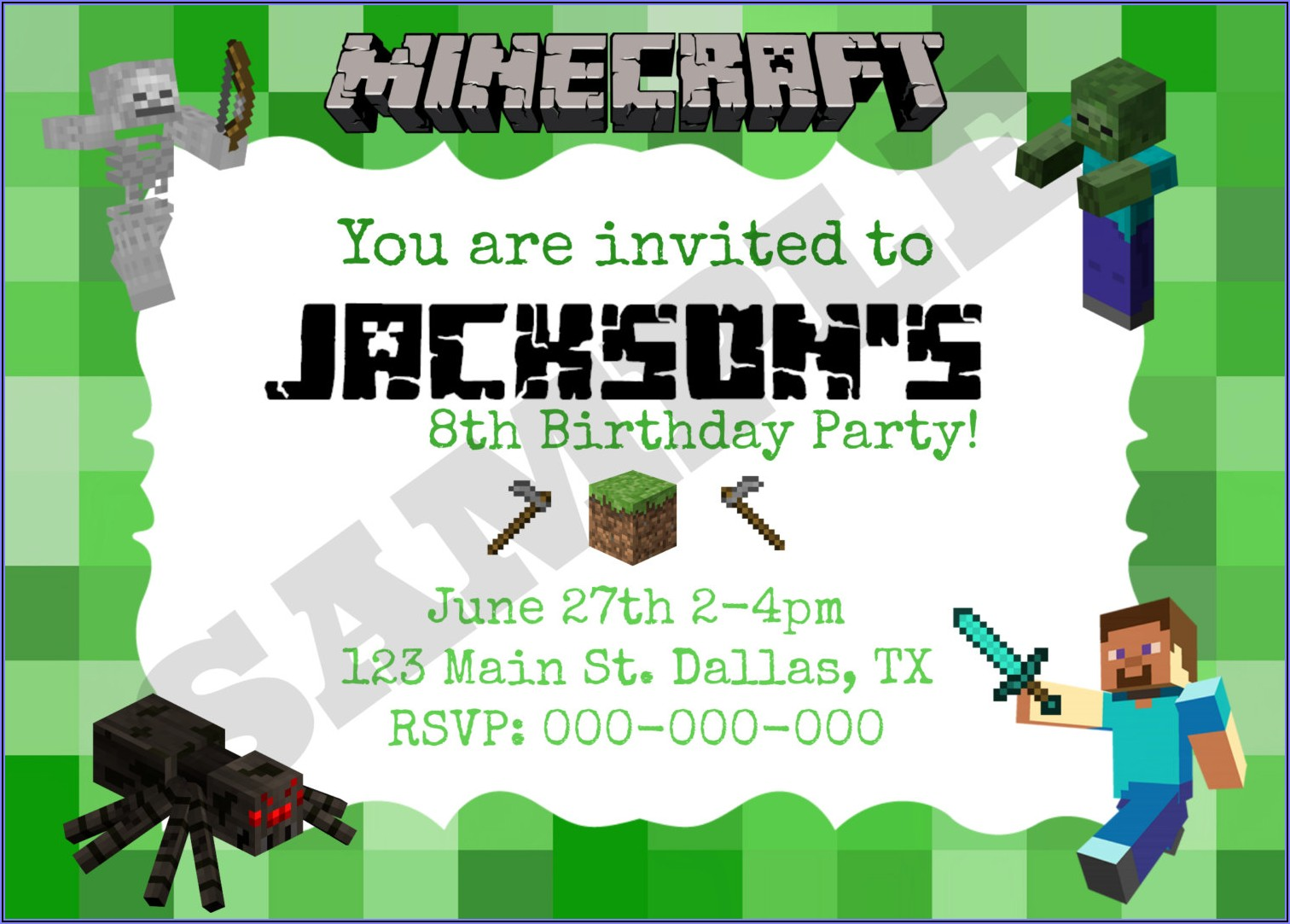 Birthday Party Invitations Templates Editable Free