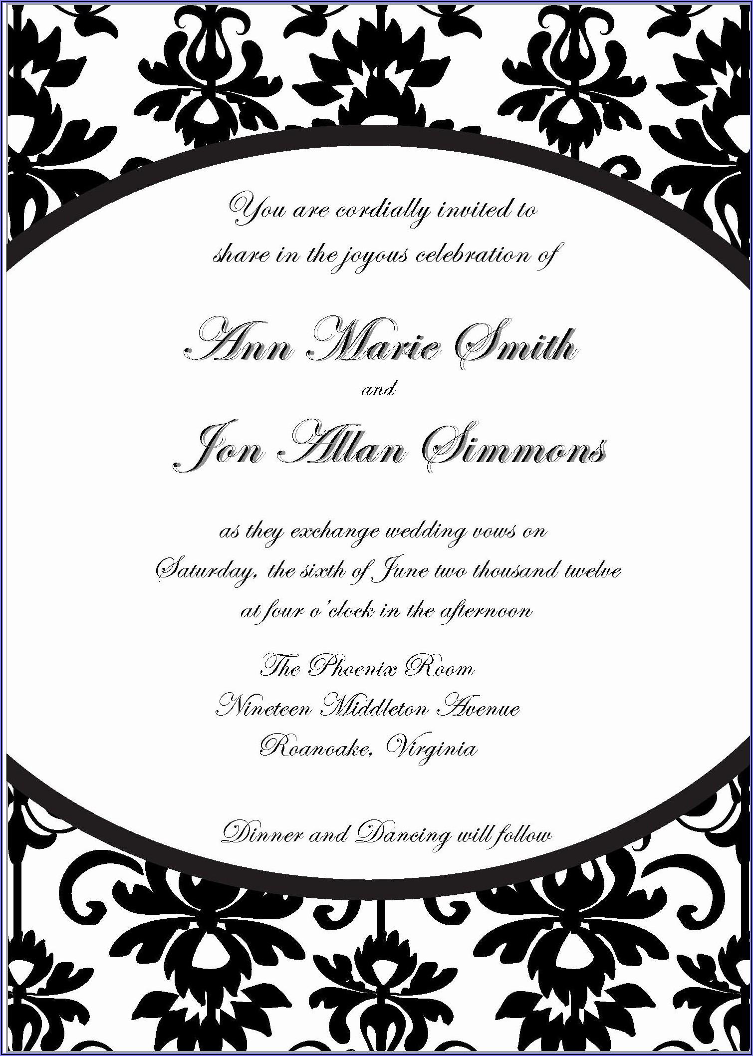Blank Beach Wedding Invitation Templates