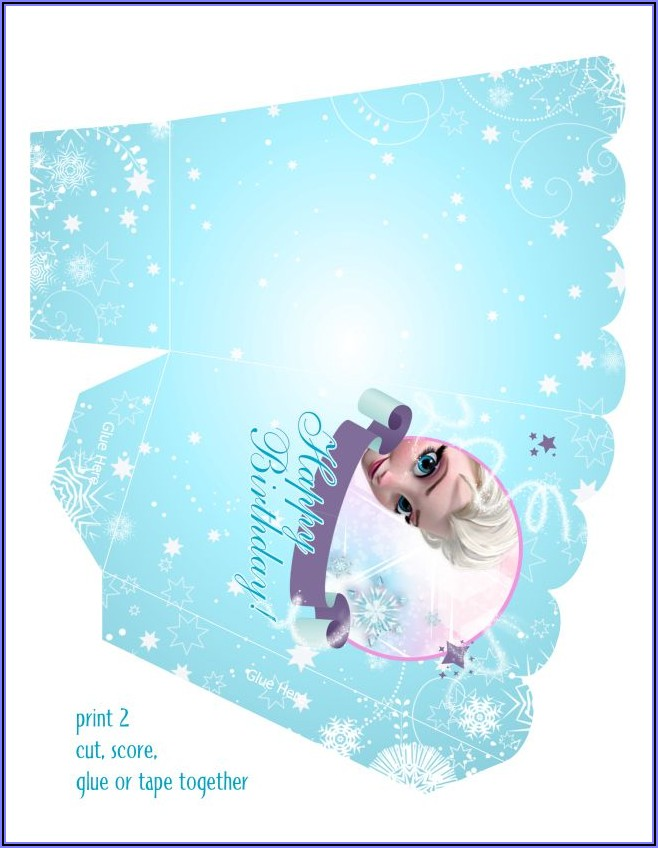 Blank Frozen Birthday Invitations