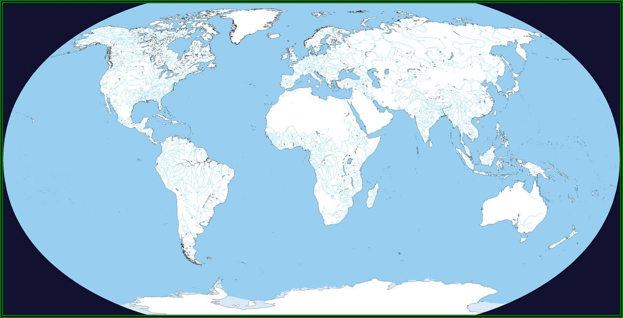 Blank World Map Pacific Centred