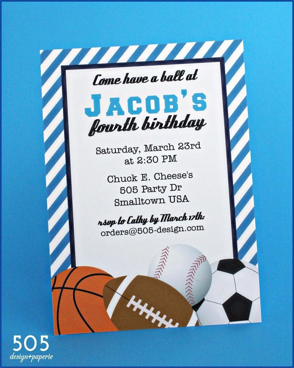 Boy Birthday Invitations Printable Free