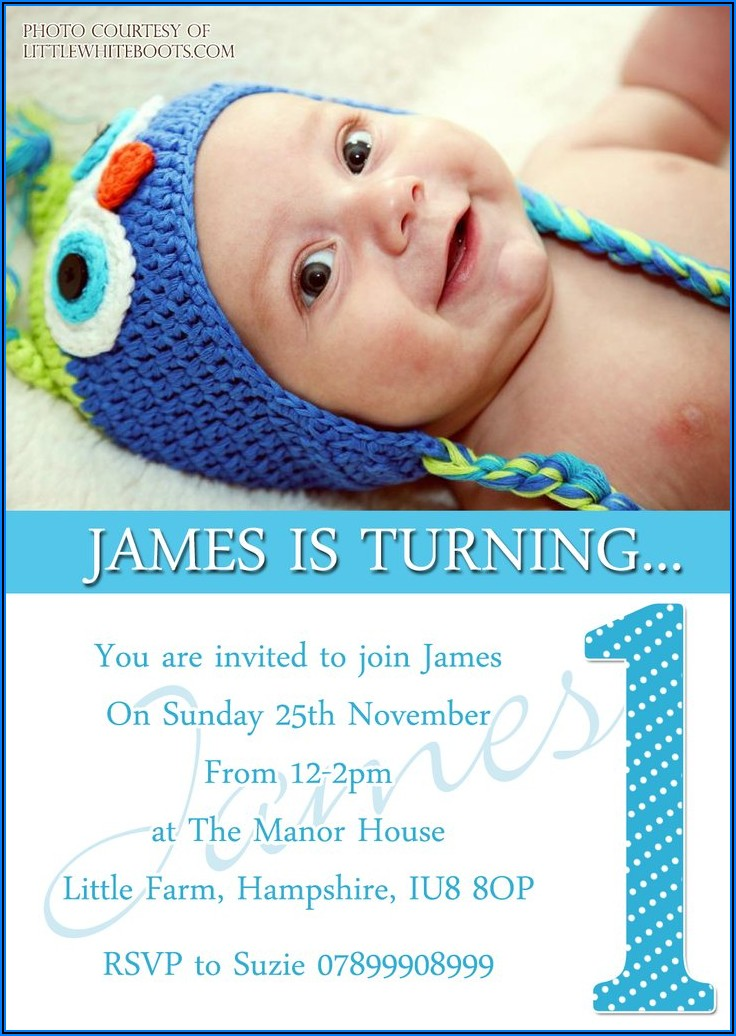 Boy Girl Twin First Birthday Invitations