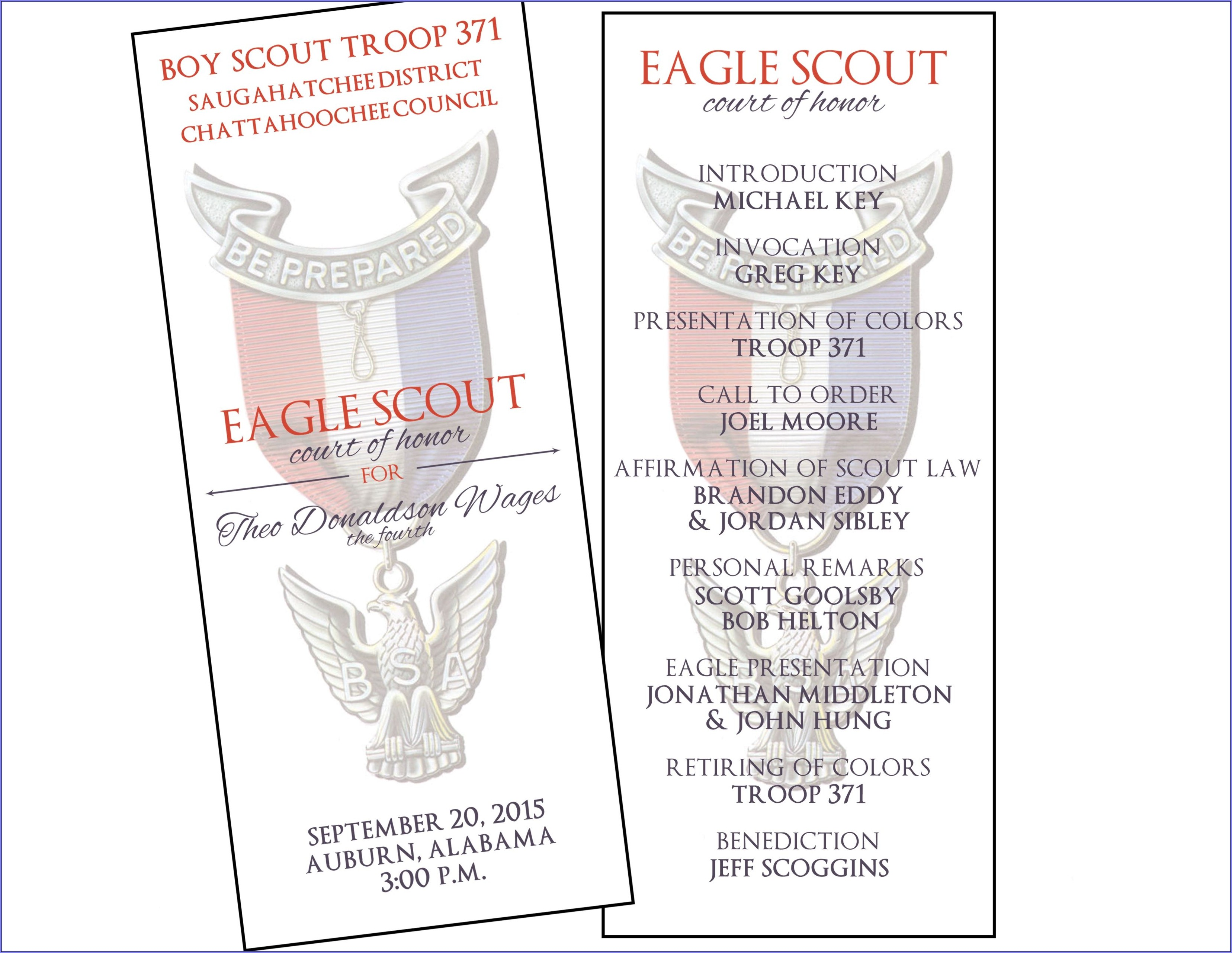 Boy Scout Court Of Honor Invitations
