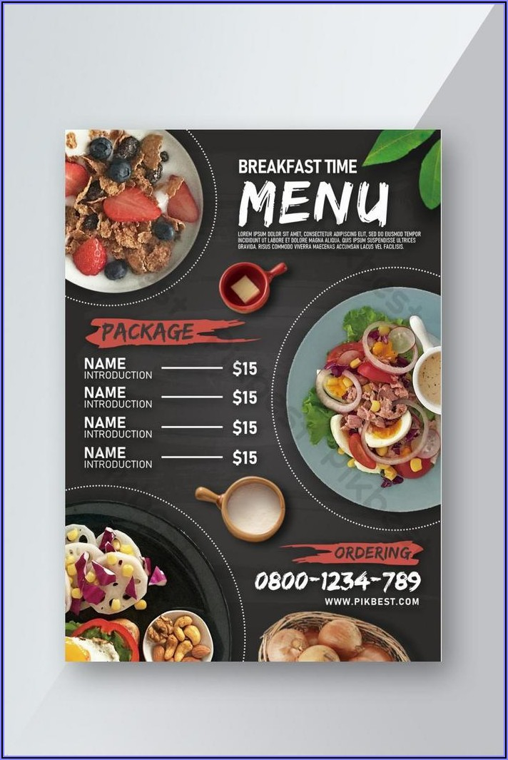 Breakfast Menu Template Free Download