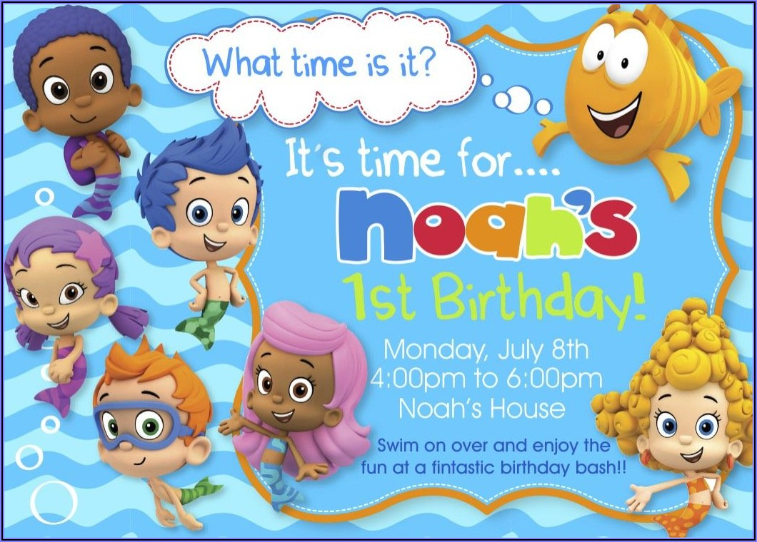 Bubble Guppies Invitations Templates Free