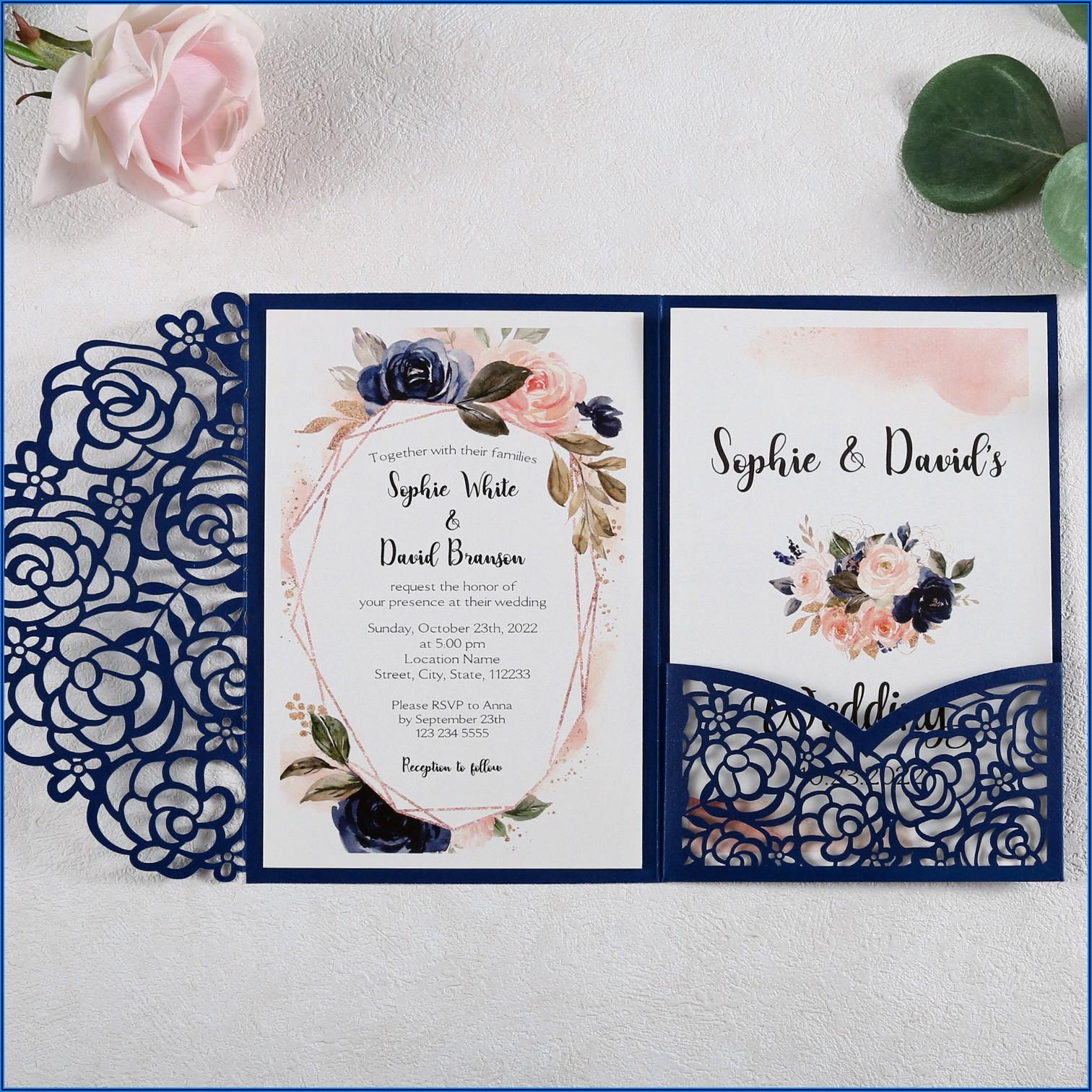 Burgundy Gold And White Wedding Invitations