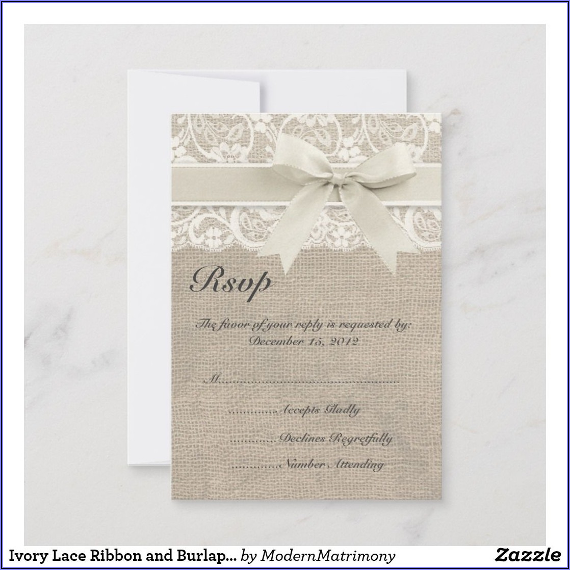 Burlap And Lace Wedding Cards