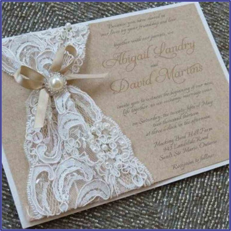 Burlap And Lace Wedding Invitations Diy