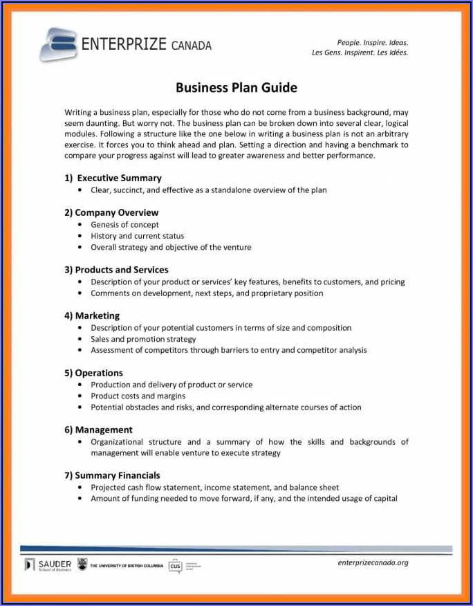Business Plan Sample Food Truck
