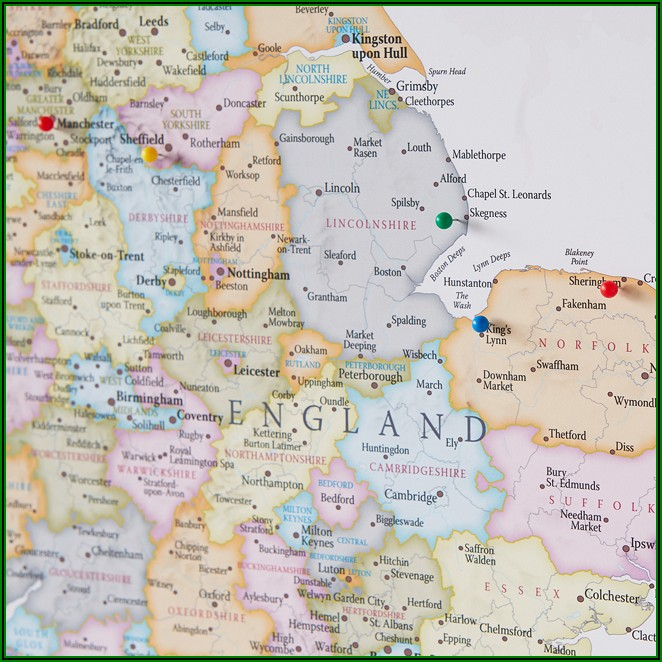 Buy World Map Pinboard