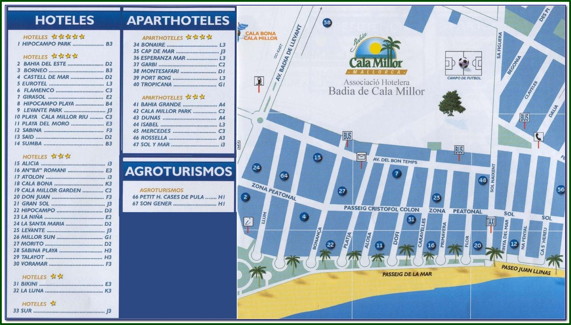 Cala Bona Beach Map