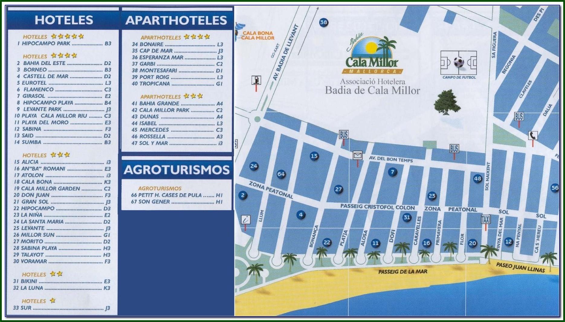 Cala Bona Beach Map