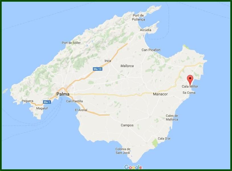 Cala Bona Mallorca Mapa