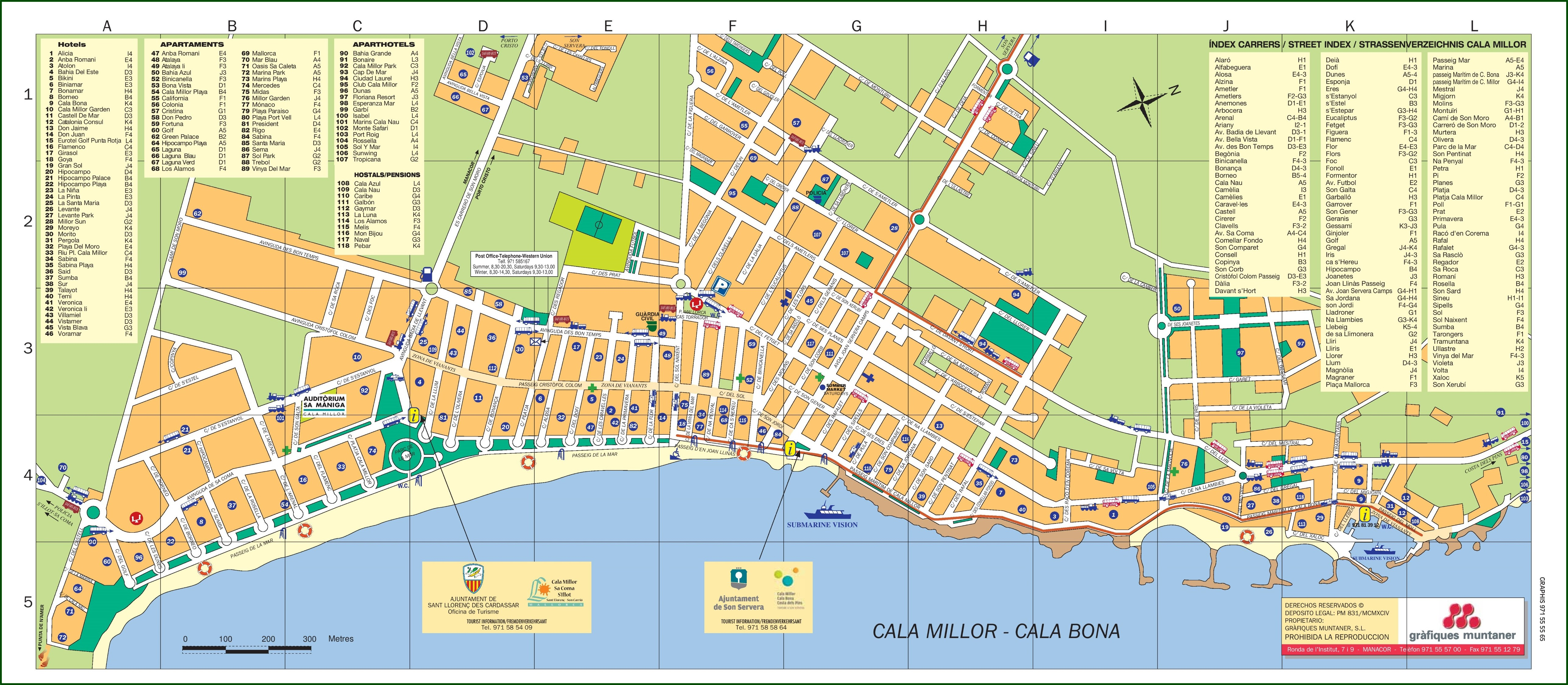 Cala Bona Map Majorca