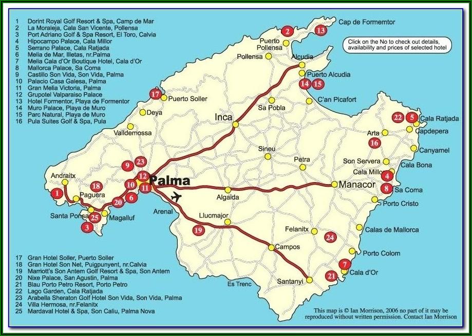 Cala Bona Street Map