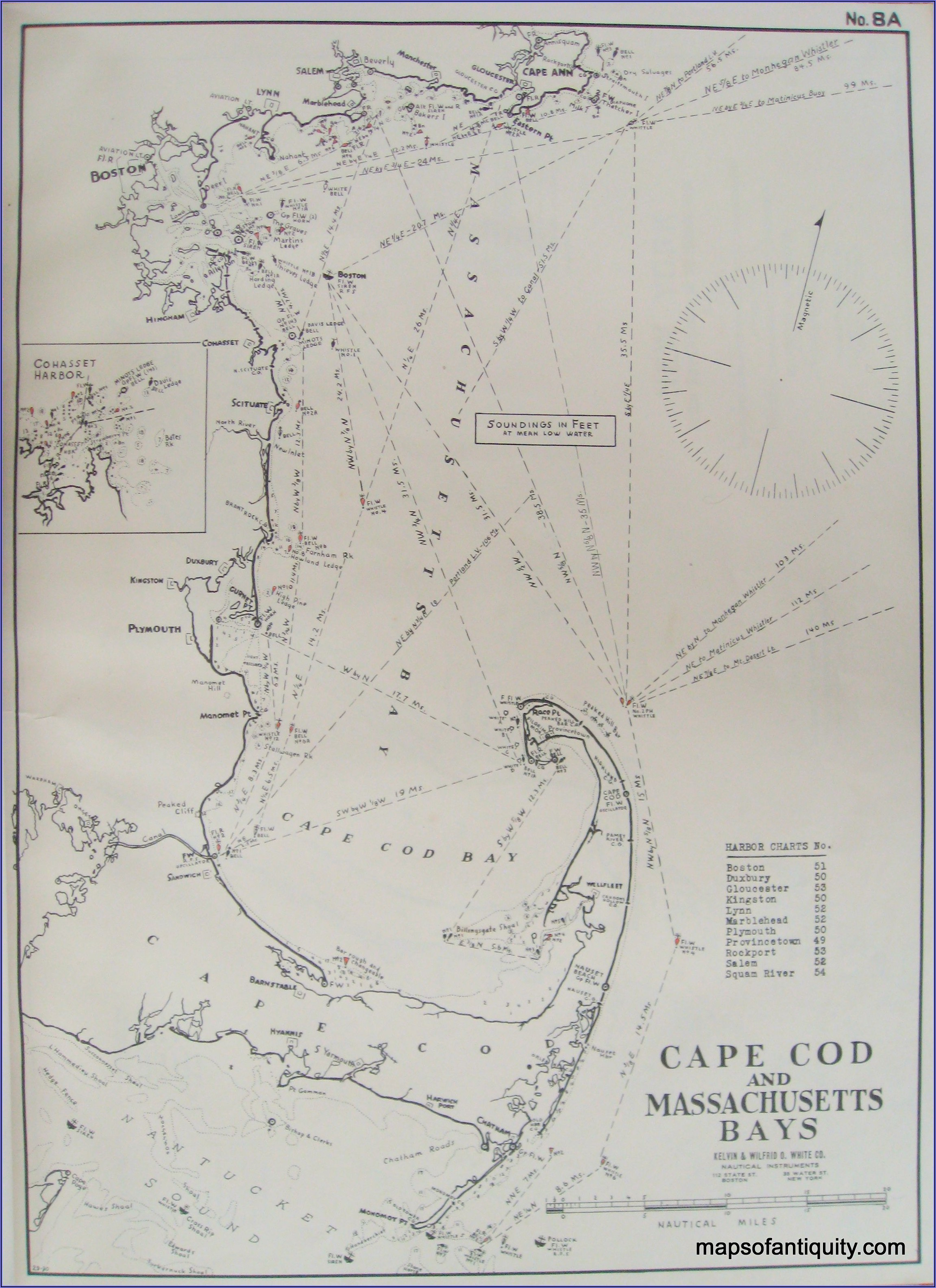 Cape Cod Marine Map