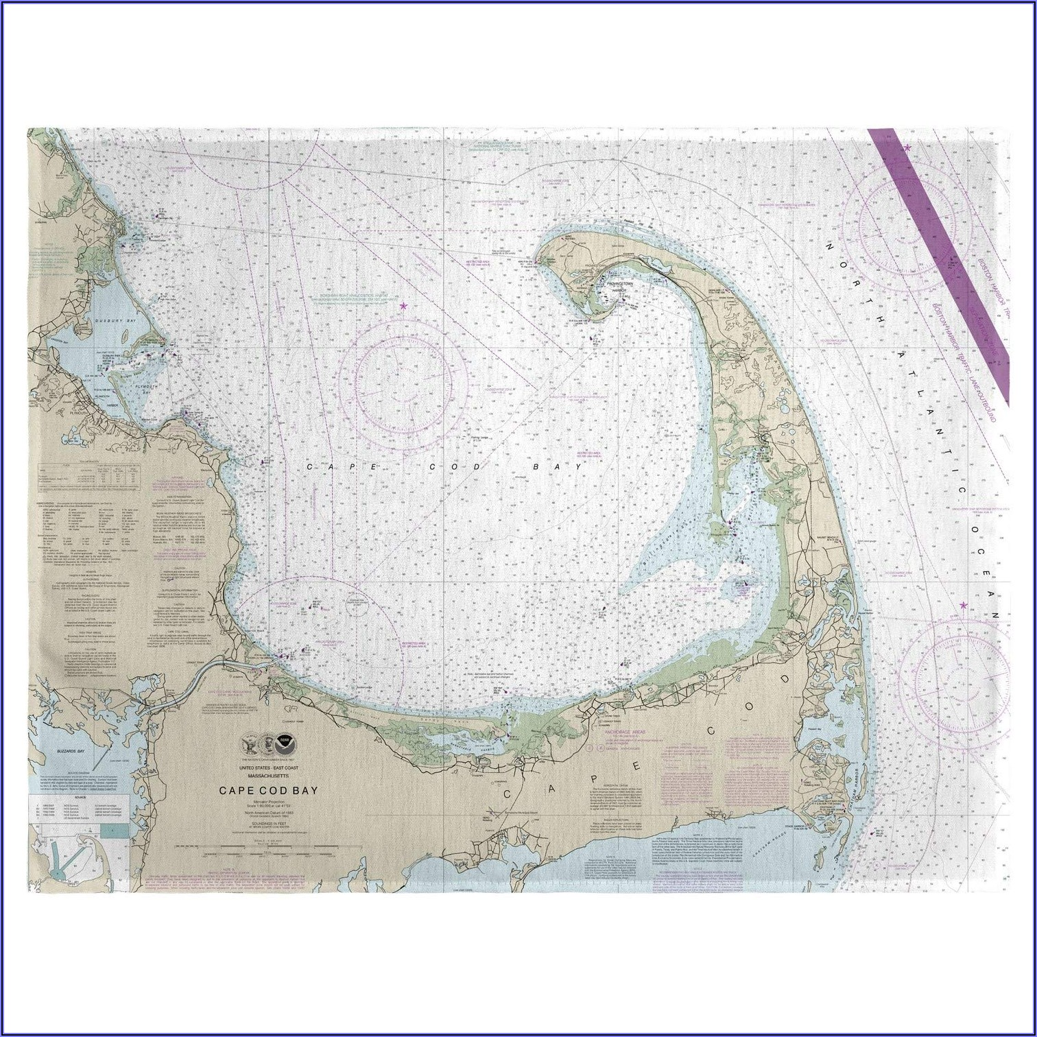 Cape Cod Nautical Map