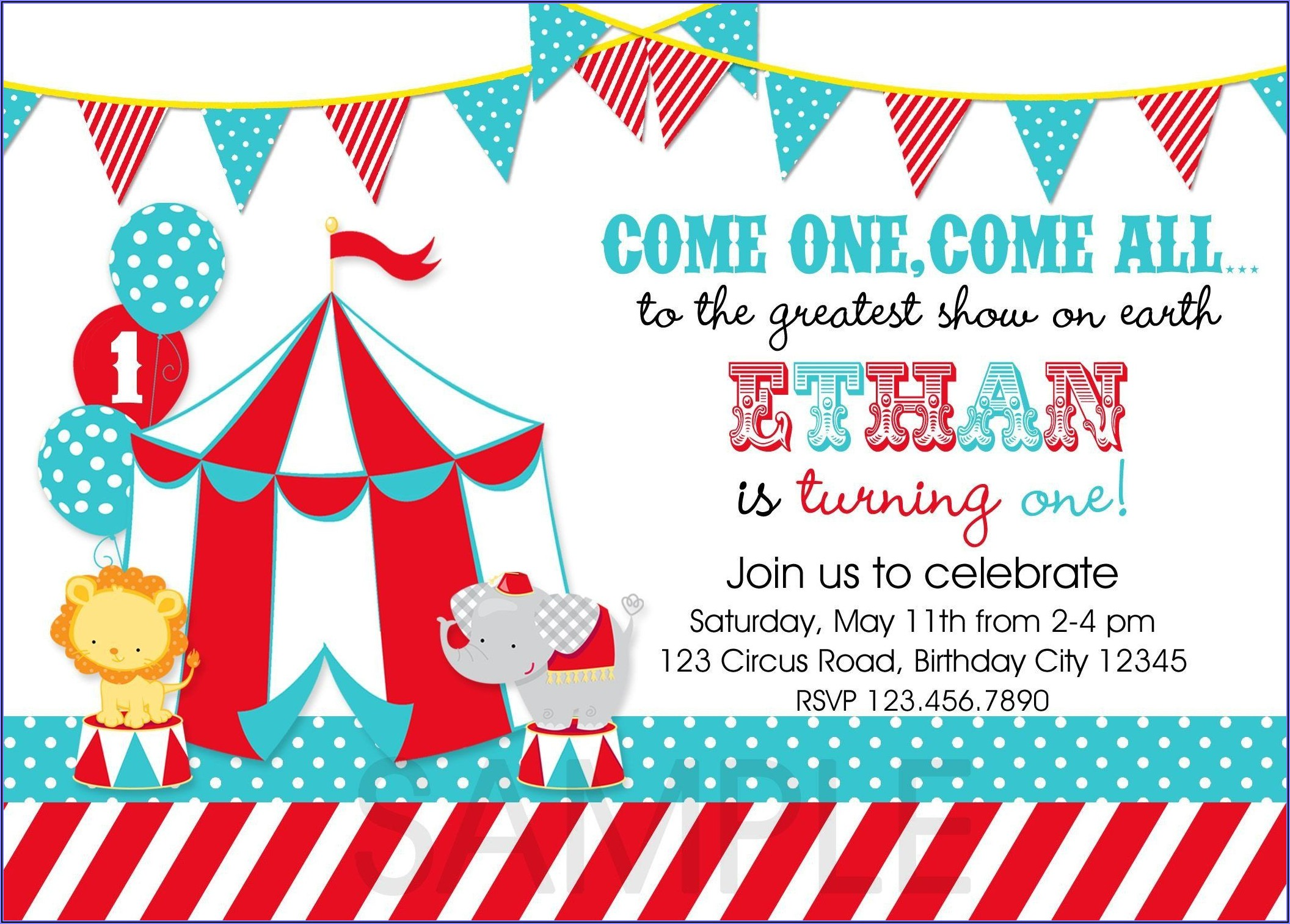 Carnival Invitations Template Free