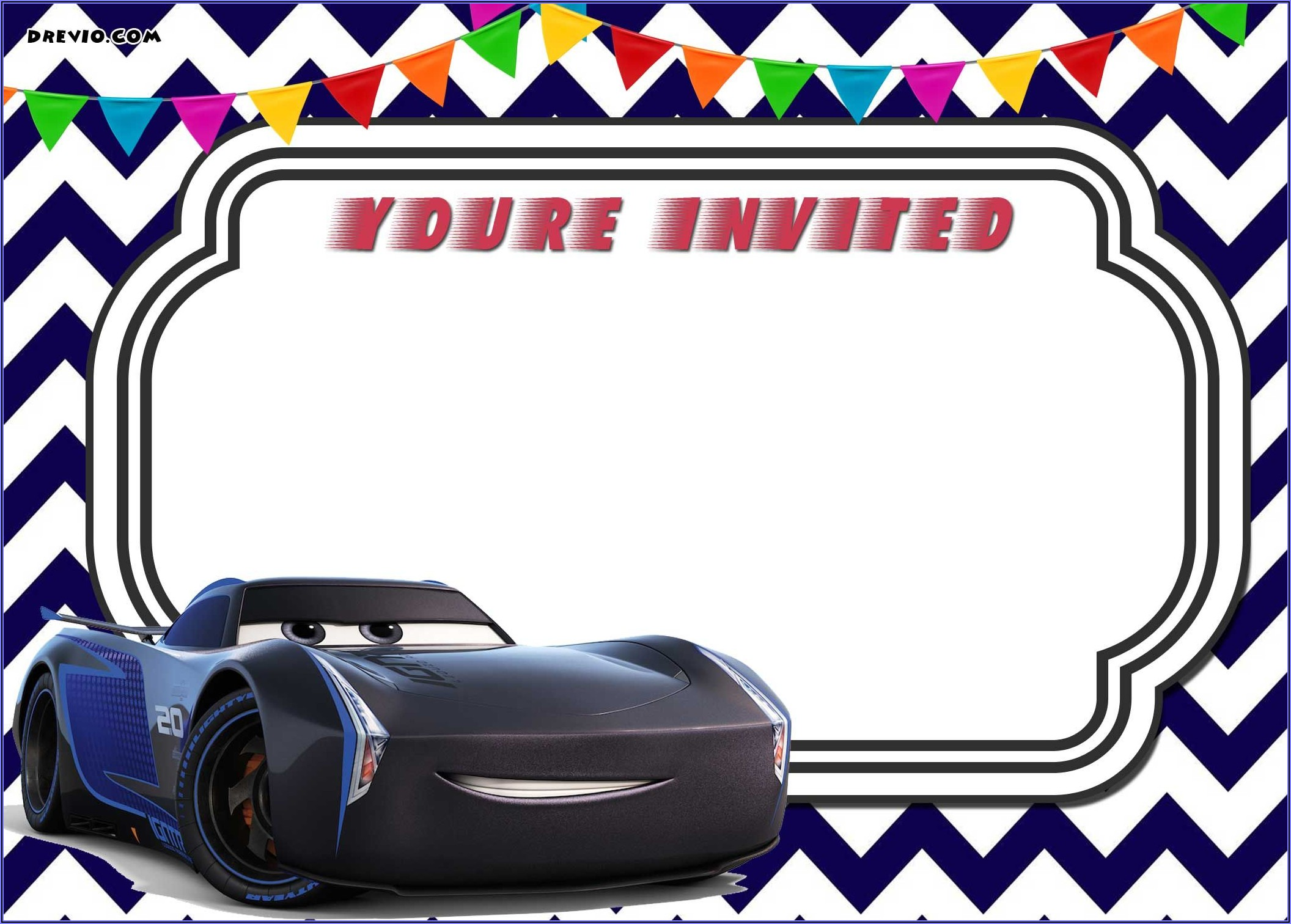 Cars 3 Invitation Template Free