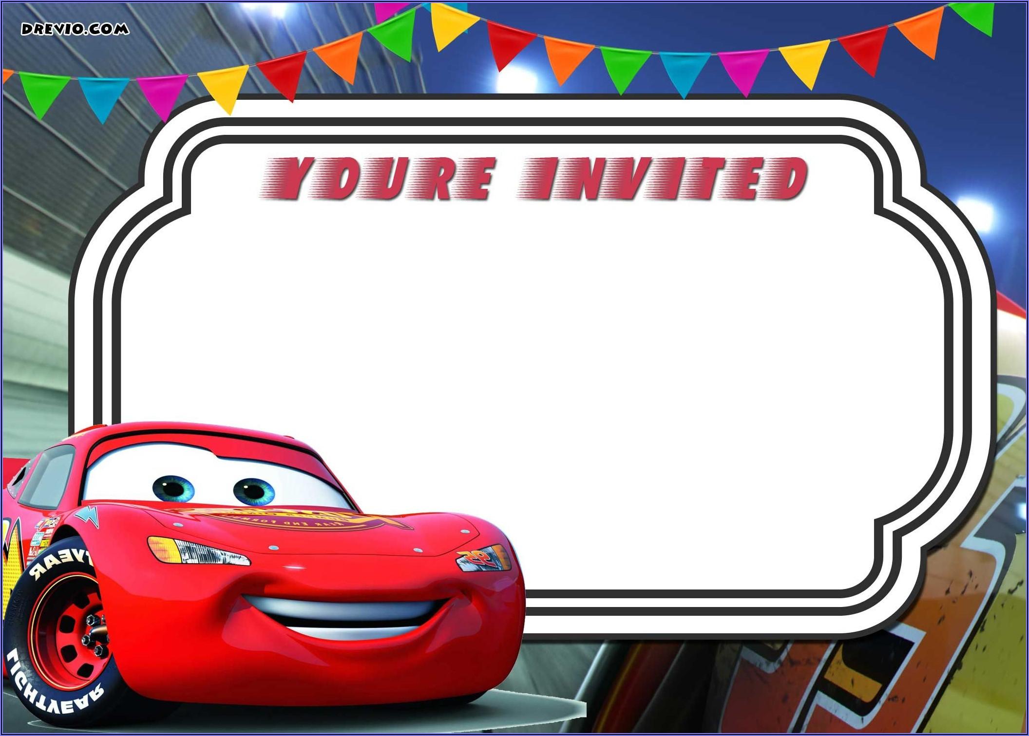Cars Invitation Template Free