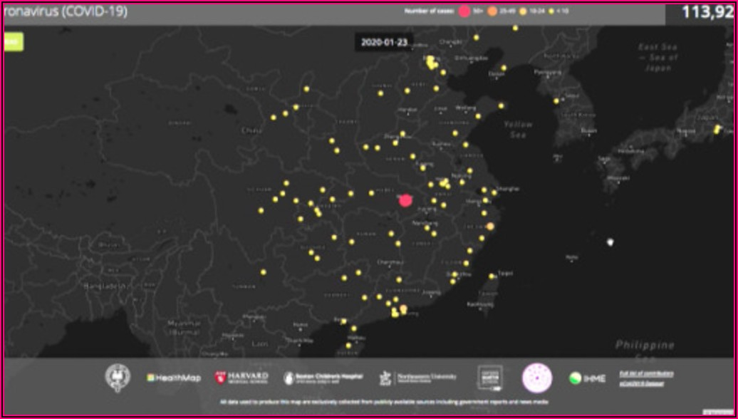 Cell Phone Tracking Map Covid
