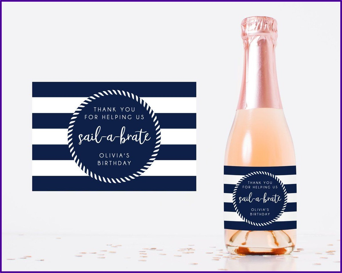 Champagne Bottle Sticker Template