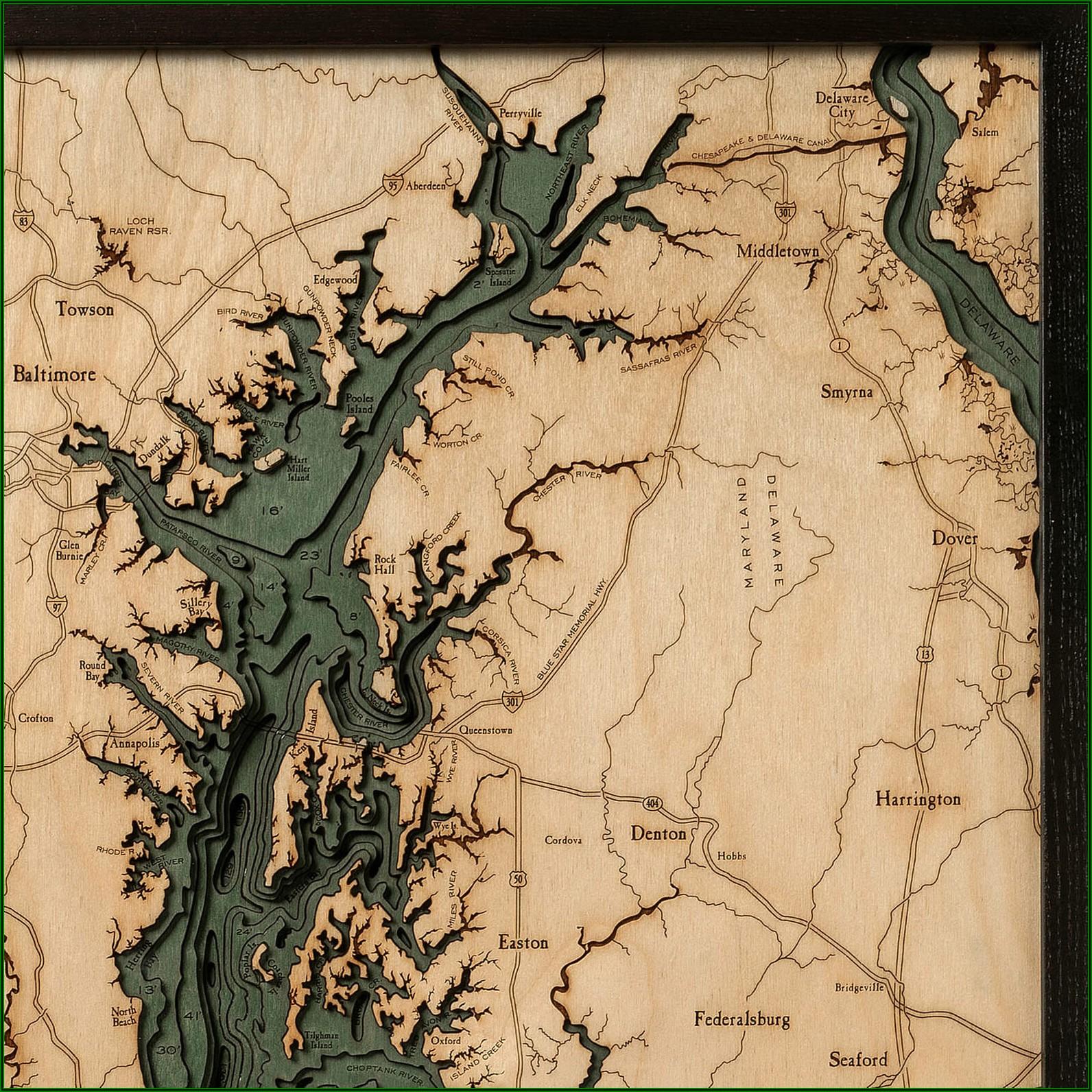 Chesapeake Bay Topographic Map