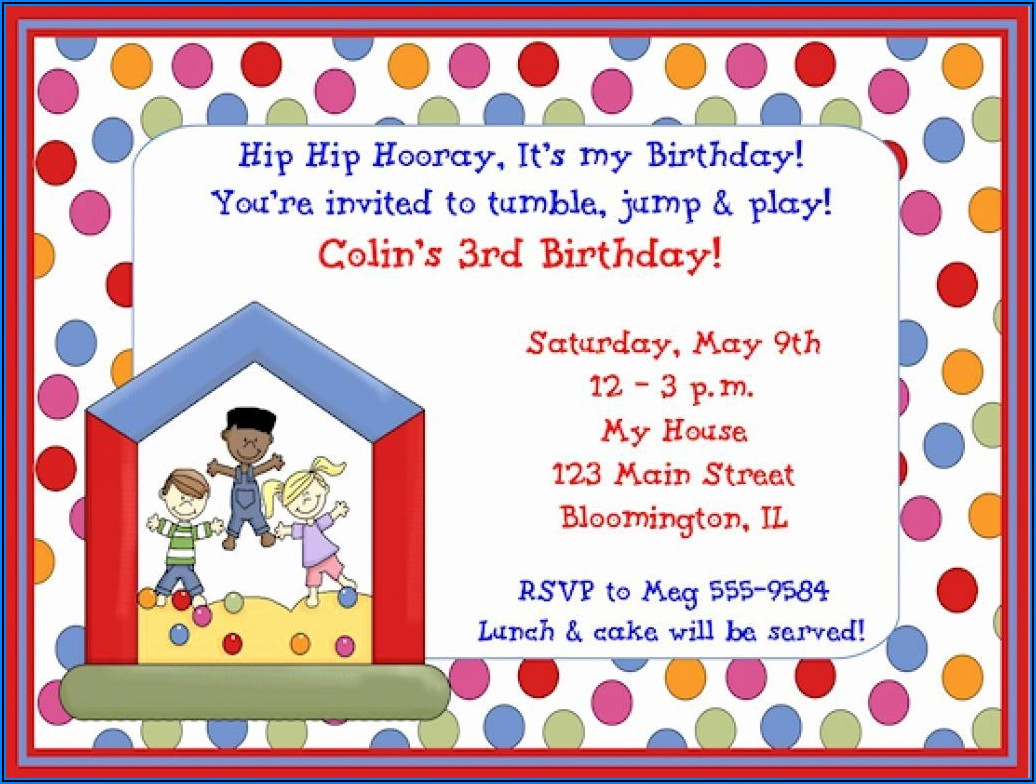 Child Birthday Invitations Free Printable