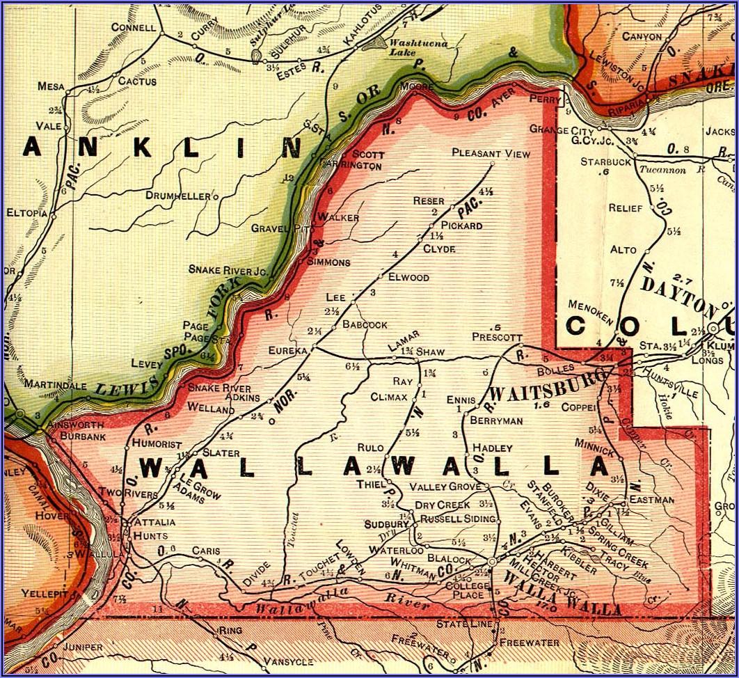 City Map Of Walla Walla Wa