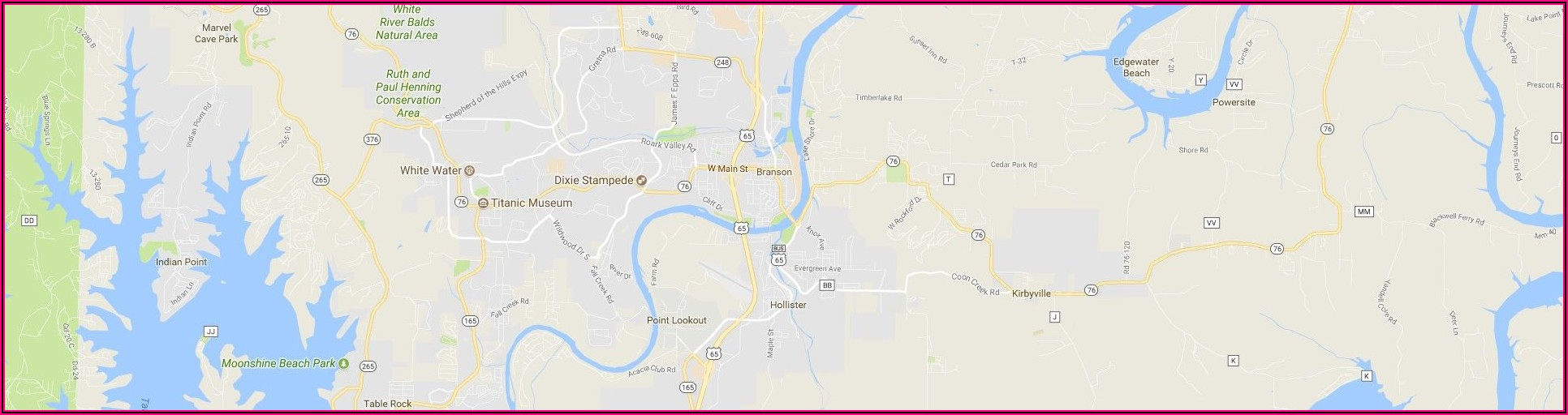 City Street Map Of Branson Mo