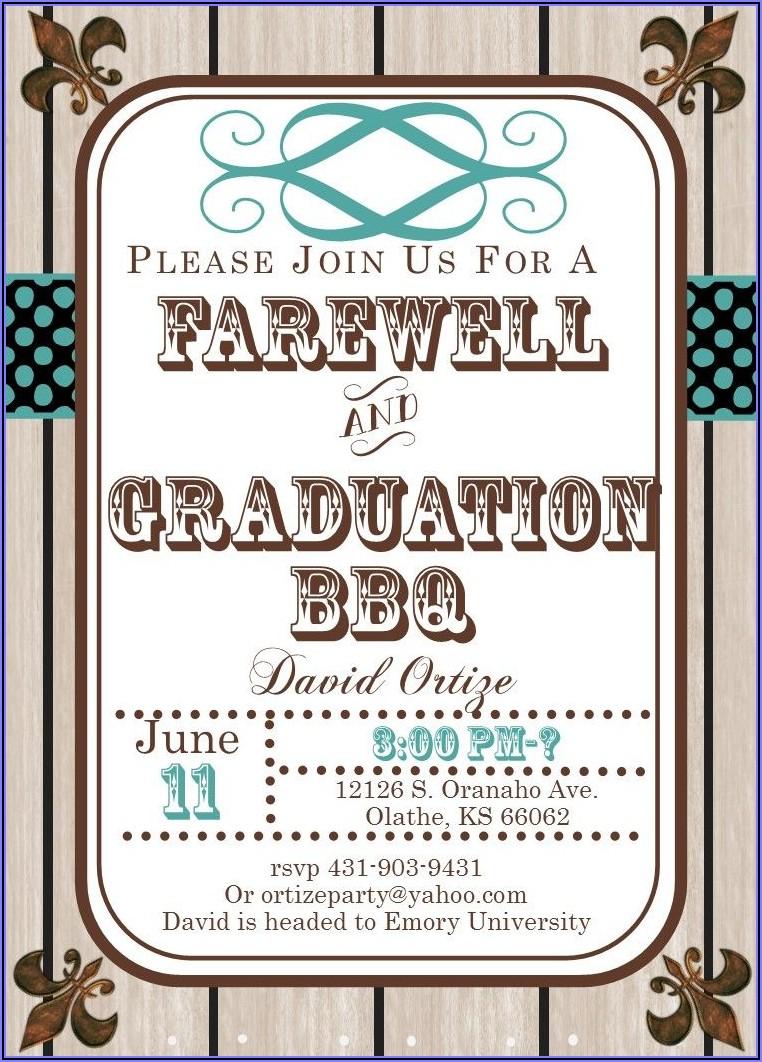 College Farewell Invitation Templates