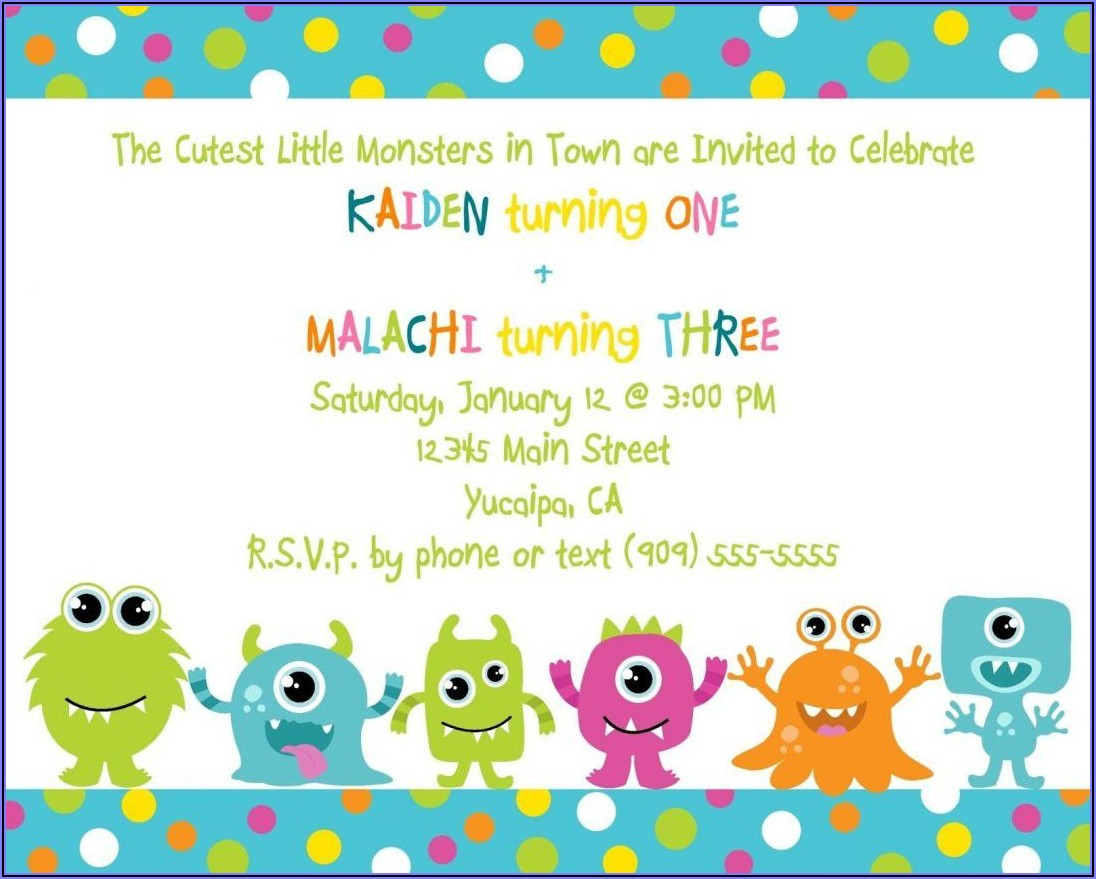 Cookie Monster Birthday Invitation Template