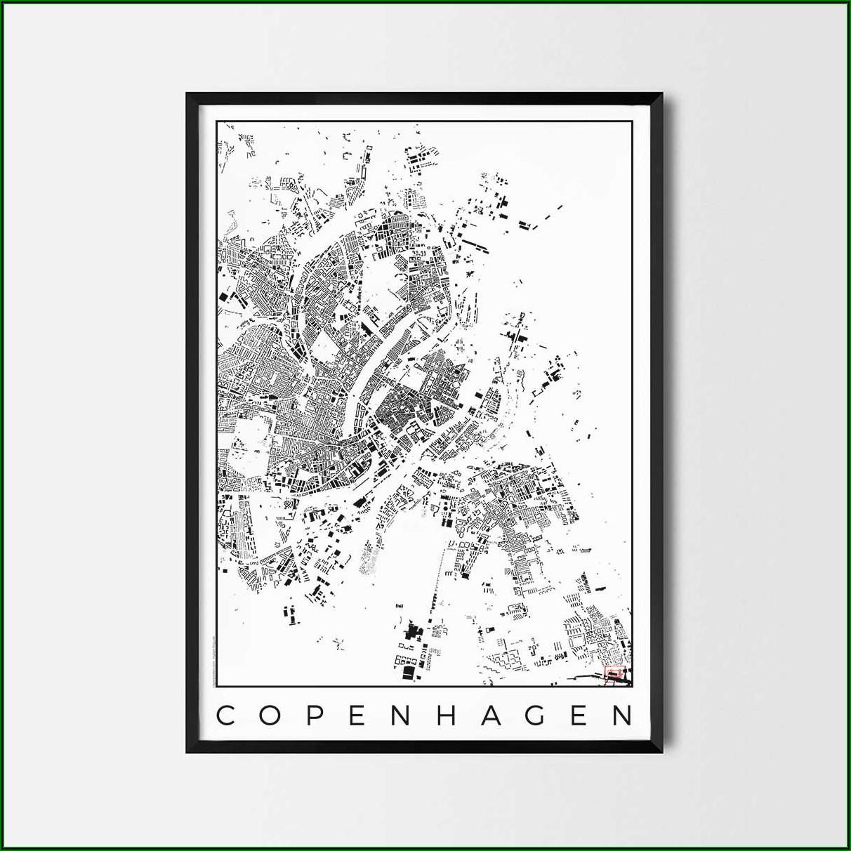 Copenhagen City Map Poster
