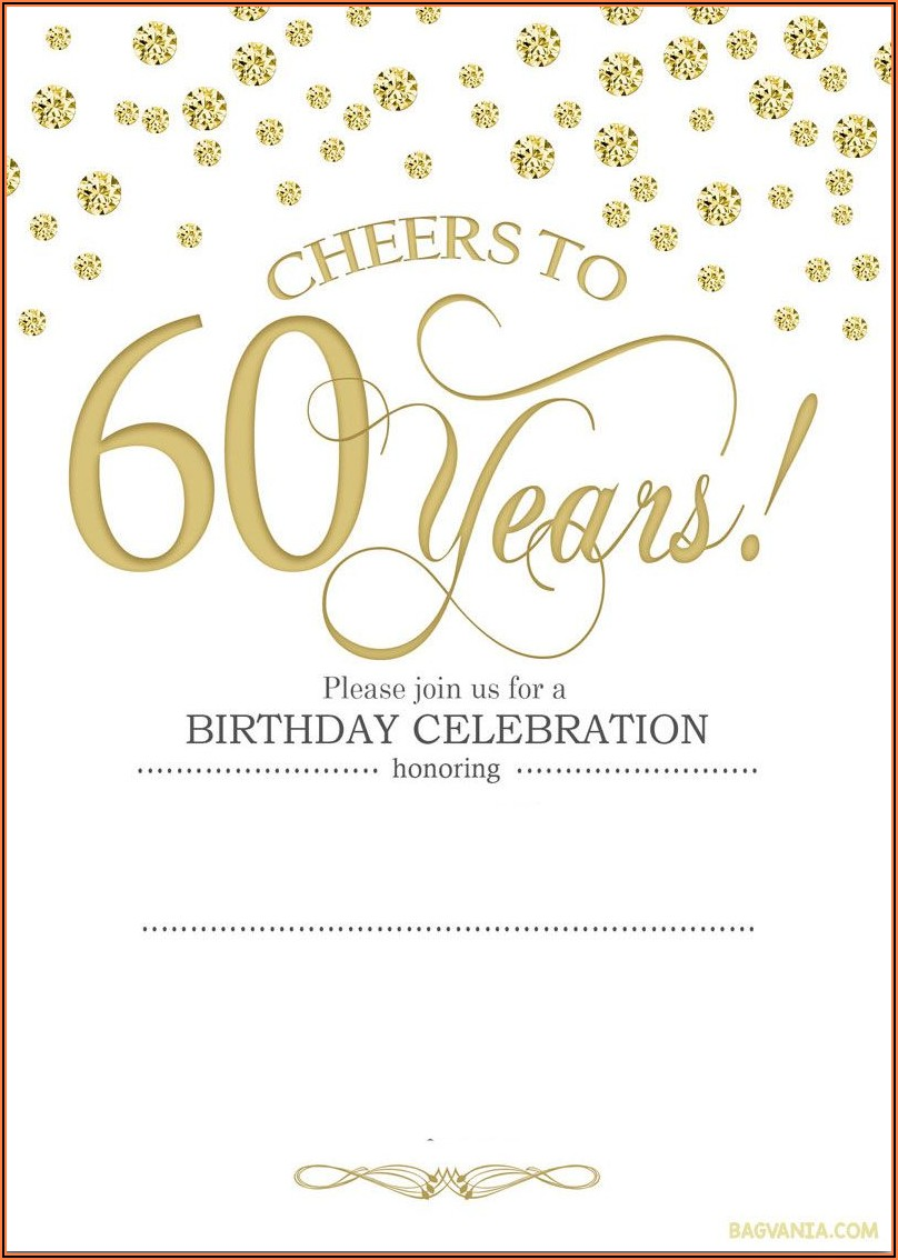 Create 60th Birthday Invitations Free