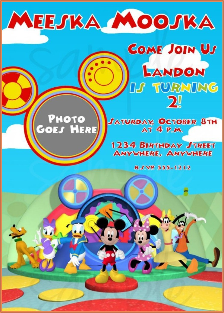 Create Free Mickey Mouse Birthday Invitations