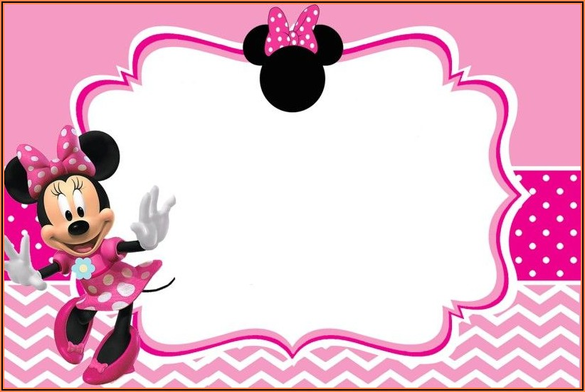 Create Free Minnie Mouse Birthday Invitations
