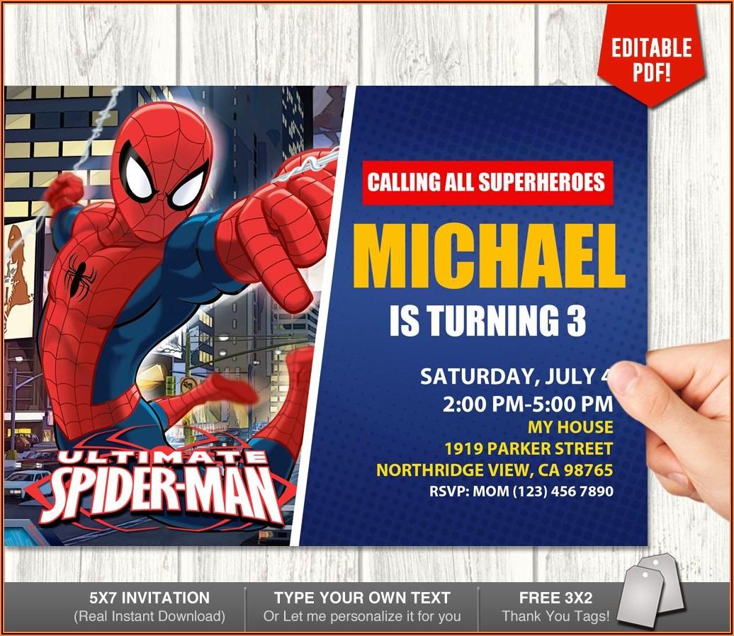 Create Spiderman Birthday Invitations Free