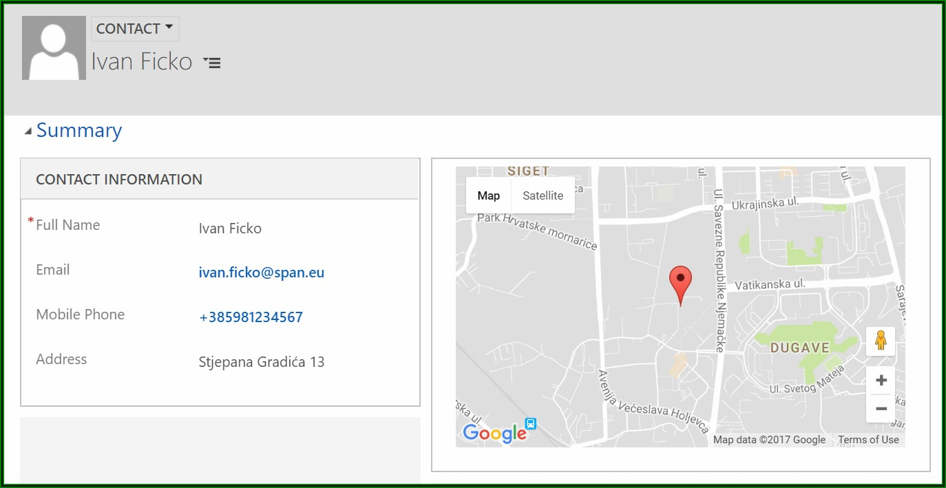 Crm Google Maps Integration