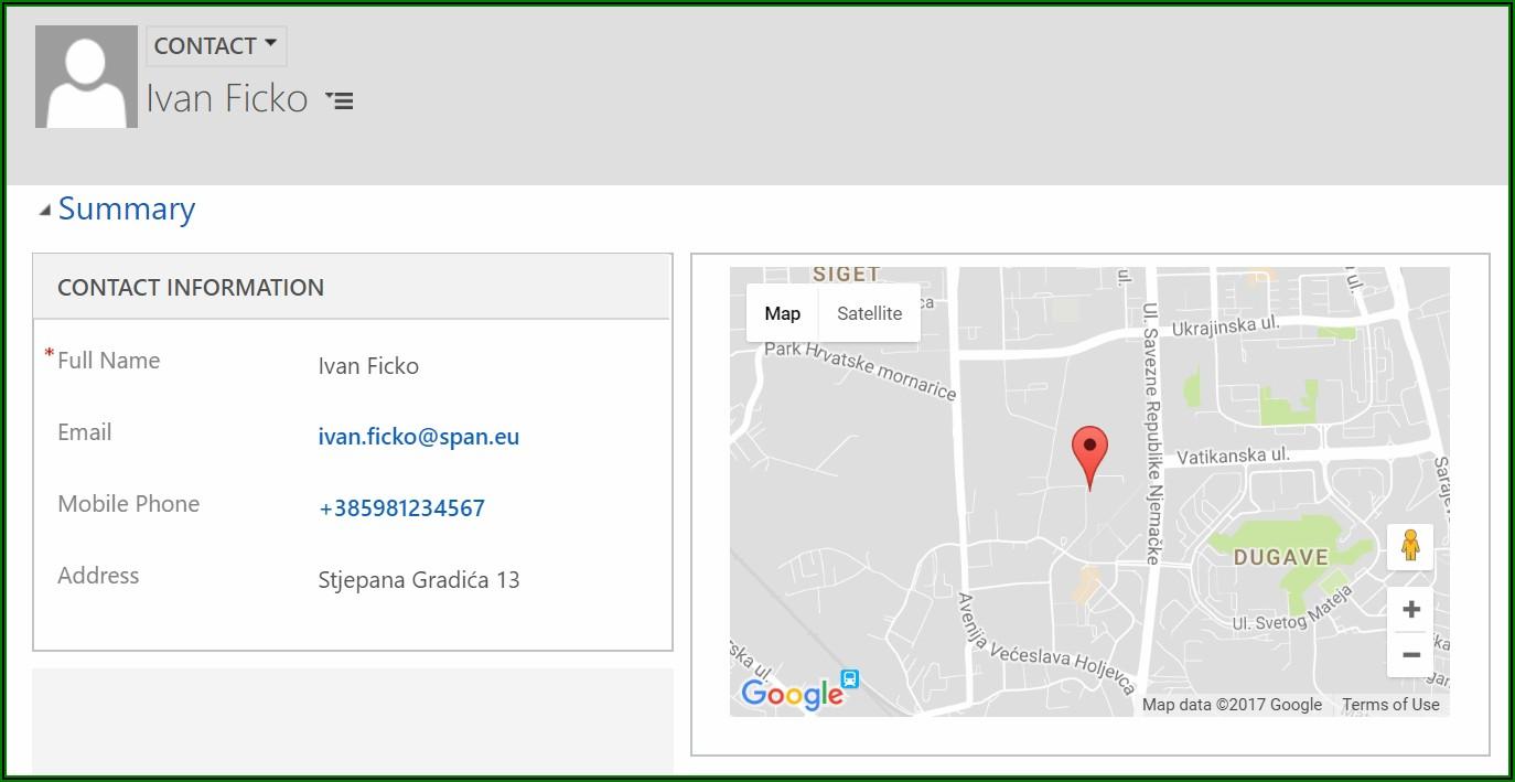 Crm Google Maps Integration
