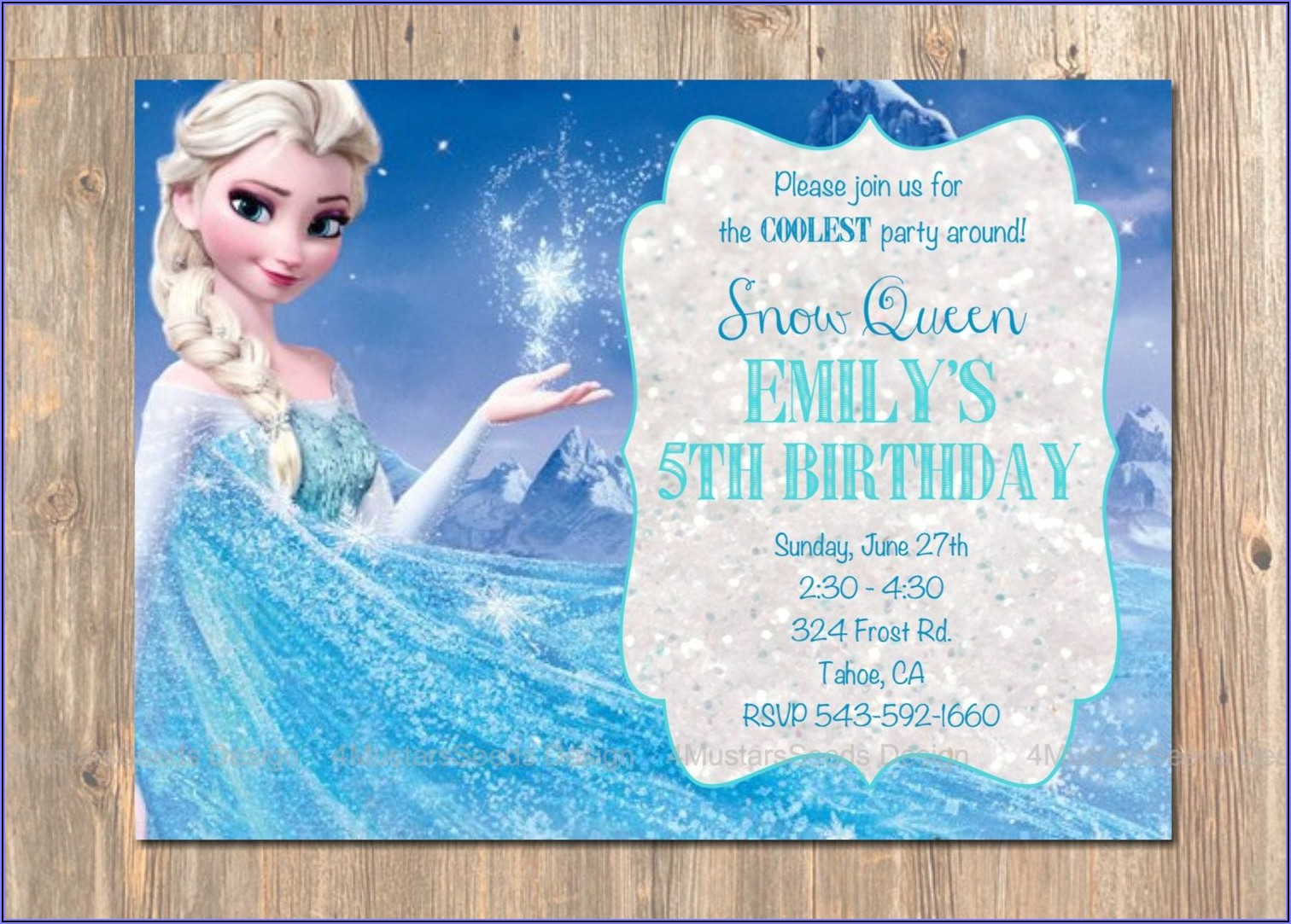 Custom Frozen Birthday Invitations