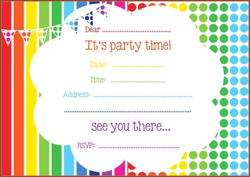 Design Free Birthday Invitations Online