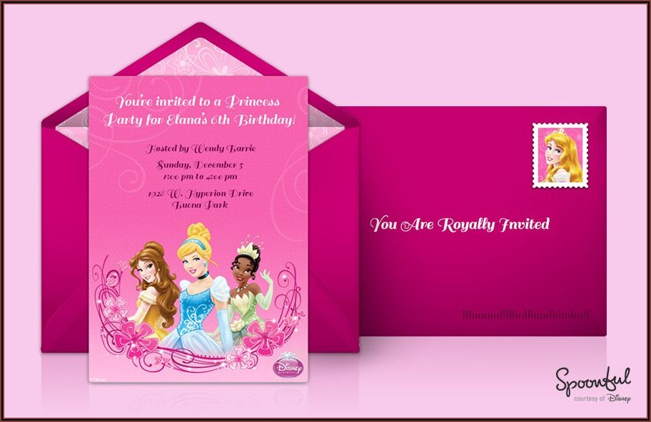 Disney Princess Birthday Invitations Online