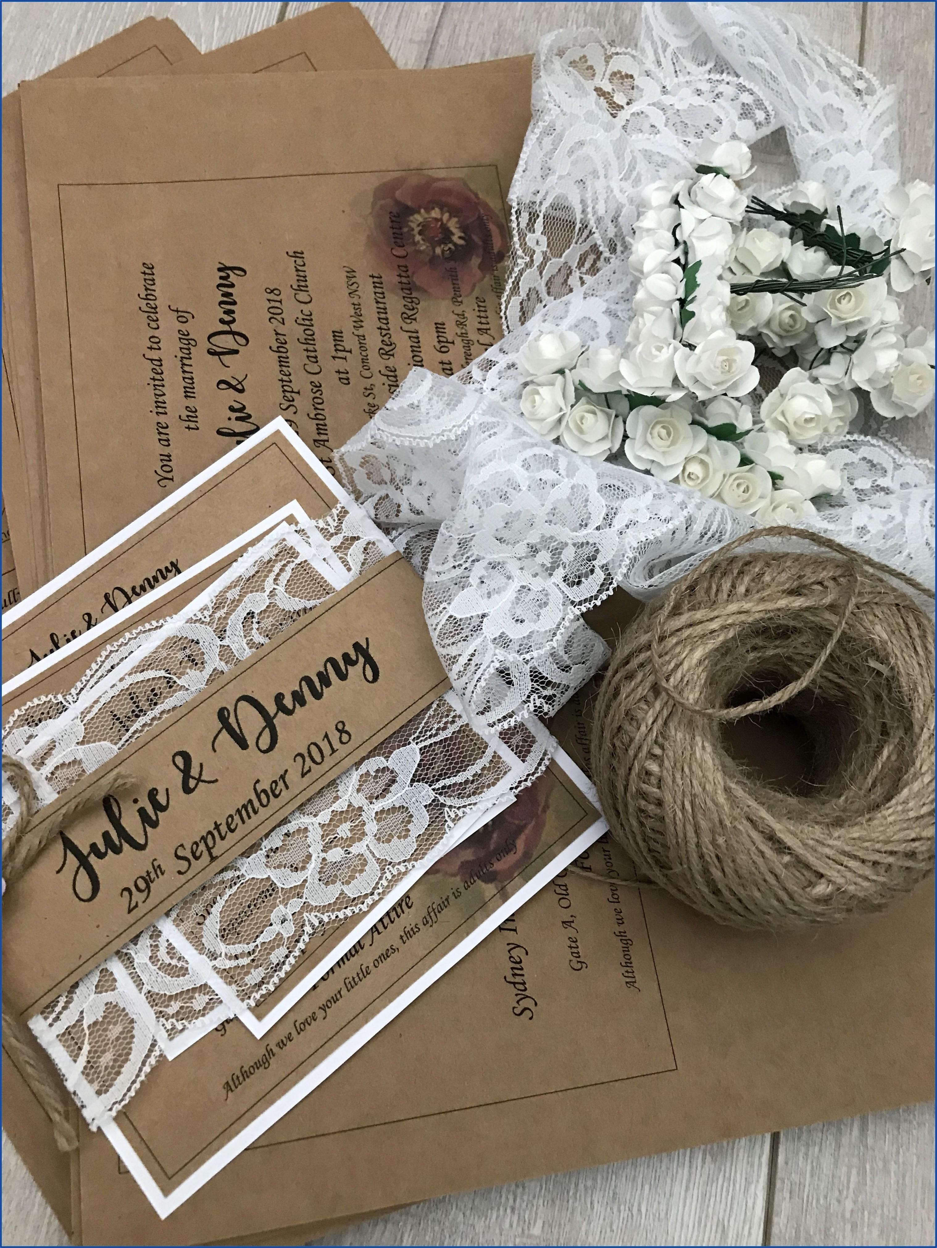 Diy Rustic Wedding Invitations Kits