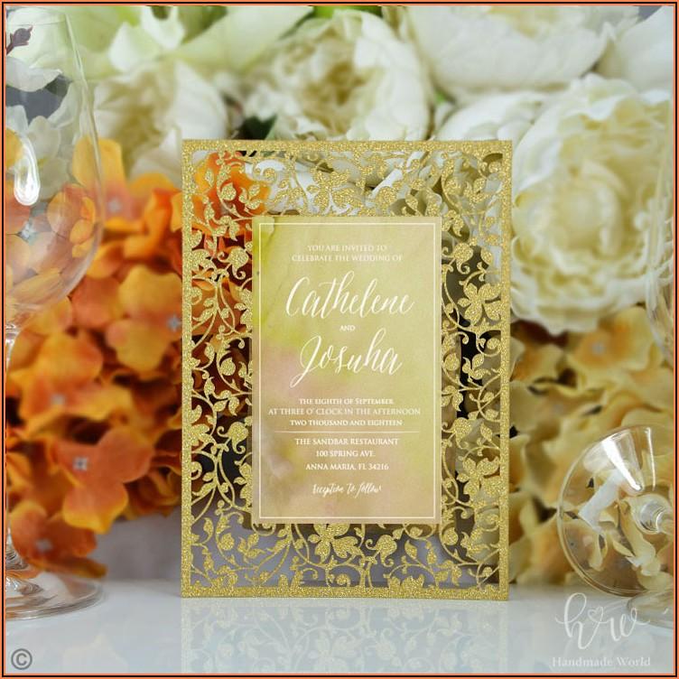 Diy Wedding Invitation Kits Pocket Folds