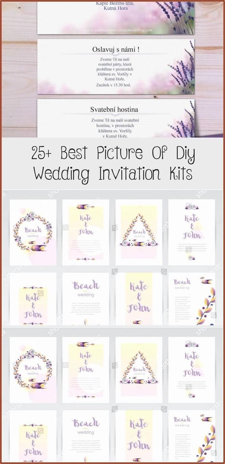 Diy Wedding Invitations Kits Cheap